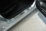 Накладки на внутренние пороги (нерж.) для Honda Civic VIII 4D 2006-2011 (Nata-Niko, P-HO09)