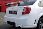 Задний пластиковый бампер Chevrolet Lacetti (BK-Tun, CL02)
