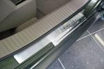 Накладки на внутренние пороги (нерж.) для Jeep Compass 2007- (Nata-Niko, P-JE01)