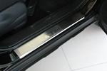 Накладки на внутренние пороги (нерж.) для Honda CR-V III 2007- (Nata-Niko, P-HO15)