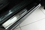 Накладки на внутренние пороги (нерж.) для Honda Crosstour 2012- (Nata-Niko, P-HO23)