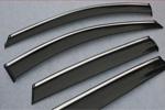 Ветровики с хром вставкой (дефлекторы окон) для Honda Crosstour 2011+ (S-Line, SL.WD.CRTR)