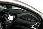 Декоративная накладка на приборную панель для Hyundai Santa Fe 2013- (KAI, HYUNSF13.DBCAX-01)