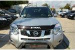 Дефлектор капота с логотипом для Nissan X-Trail (T31) 2007-2014 (SIM, SNIXTR0712L)