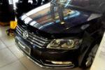 Дефлектор капота для Volkswagen Passat (В7) 2011-2015 (SIM, SVOPAS1112)