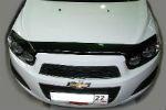 Дефлектор капота для Chevrolet Aveo 2012+ (SIM, SCHAVE1212)