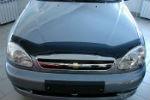 Дефлектор капота для Chevrolet Lanos/ЗАЗ Sense 1998+ (SIM, SCHLAN9812)