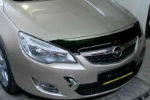 Дефлектор капота (короткие) для Opel Astra HB 2010+ (SIM, SOPASTH1012S)