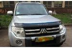 Дефлектор капота для Mitsubishi Pajero Wagon IV 2006+ (VIP, MSH13)