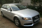 Дефлекторы окон для Audi A4 Avant 2008+ (COBRA, A11408)