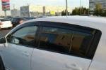 Дефлекторы окон для Nissan Tiida (C11) HB 2004+ (COBRA, N11504)