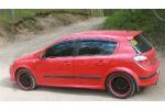 Дефлекторы окон для Opel Astra H (5D) HB 2004+ (COBRA, O10304)