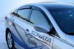 Дефлекторы окон для Hyundai Sonata 2010+ (SIM, SHYSON1032)
