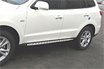 """Боковые пороги """"BMW Style"""" для Hyundai New Santa Fe 2010-2013 (Kindle, HS-S05)"""