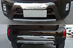 Накладка на передний и задний бампер для Kia Sorento 2013-2014 (Kindle, KSO-B33-B34)