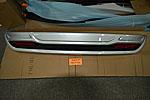 Накладка на задний бампер для Toyota Highlander 2010-2014 (Kindle, HL-B22)
