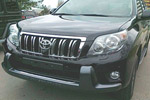 Накладка на передний бампер для Toyota LC Prado 150 2009-2013 (Kindle, TP-B01)