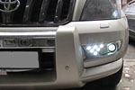 Дневные ходовые огни (DRL) с ПТФ для Toyota Land Cruiser Prado 120 2002- (S-Line, KR.SL.LC120.FGDRL)