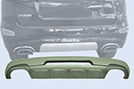 Накладка на задний бампер Hyundai Santa Fe 2010- (Kindle, DS-B-102)