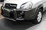 Накладка на передний бампер для Hyundai Tucson 2004- (Kindle, DS-E-015)