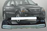 Накладка на передний бампер Kia Sorento 2007- (Kindle, DS-G-006)