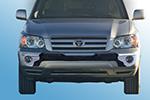 Накладка на передний бампер Toyota Highlander 2007- (Kindle, DS-HTL-002)