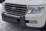 Накладка на передний бампер для Toyota LC 200 (Kindle, DS-TL-001)