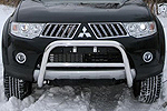 Дуга передняя мини d60 низкая c перемычкой d42 Mitsubishi Pajero Sport 2008- (Союз-96, MIPS.56.0774)