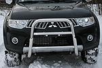 Дуга передняя мини d60 высокая c 2-мя перемычками d42 Mitsubishi Pajero Sport 2008- (Союз-96, MIPS.55.0773)
