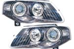 """Передняя оптика Volkswagen Passat 2006- """"Ангельские глазки черн."""" (Ad-Tuning, AdTun-06)"""