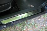 Накладки на внутренние пороги (нерж.) для Hyundai Elantra IV 2007- (Nata-Niko, P-HY04)