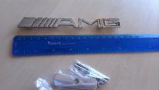 Эмблема (шильдик) в решетку для Mercedes AMG (DT, EMB014)