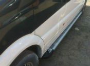 Боковые пороги (Line) для Volkswagen Touareg 2003+ (Erkul, VWTG03RB6B193LN)