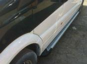Боковые пороги (Line) для Mitsubishi Pajero (V80) 2007+ (Erkul, MBPJ07RB4B183LN)