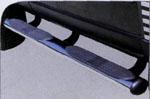 Пороги труба с уступом, черного цвета на Toyota FJ-Cruiser (Winbo, B098602B)