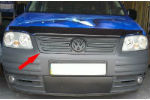Накладка на решетку радиатора (для зимы, матовая) Volkswagen Caddy 2004-2010 (FLY, FLMT0103)
