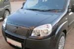 Накладка на решетку радиатора (для зимы, матовая) Fiat Doblo 2006-2012 (FLY, FLMT0116)