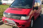 Накладка на решетку радиатора (для зимы, матовая) Mercedes Vito 1995-2002 (FLY, FLMT0125)