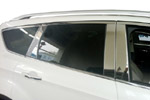 Комплект хром молдингов по периметру боковых стекол для Ford Kuga 2013+ (Kindle, FK-D39-40)