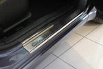 Накладки на внутренние пороги (нерж.) для Mitsubishi Galant IX 2006- (Nata-Niko, P-MI04)