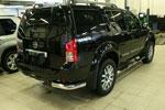"""Защита задняя """"уголки"""" d 76 Nissan Pathfinder 2010- (Союз-96, NPTF.76.1069)"""