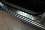 Накладки на внутренние пороги (нерж.) для Mitsubishi Grandis 2003- (Nata-Niko, P-MI05)