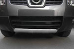 Накладка на передний бампер Nissan Qashqai 2007- (Kindle, DS-Q-001)