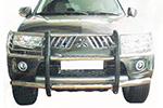 Дуга передняя (кенгурятник) Mitsubishi Pajero Sport 2009-2012 (Power Ful, HD11-MS-A0802)