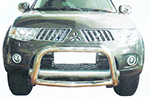 Дуга передняя (кенгурятник) Mitsubishi Pajero Sport 2009-2012 (Power Ful, HD11-MS-A1048)