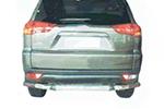 Защита заднего бампера Mitsubishi Pajero Sport 1998-2009 (Power Ful, HD11-MS-B1049)