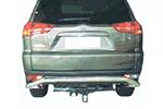 Защита заднего бампера Mitsubishi Pajero Sport 1998-2009 (Power Ful, HD11-MS-L0804)