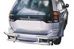 Защита заднего бампера Mitsubishi Pajero Sport 1998-2009 (Power Ful, HD140-MS-A035)