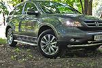 Боковые пороги с листом Honda CR-V 2007- (UAtuning, HD.CRV.SST.01)