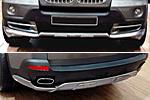 Накладки на передний и задний бамперы для BMW X5 (E70) 2010-2014 (Kindle, X5-B11)